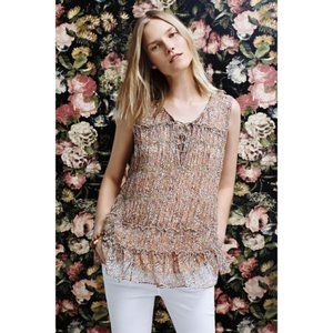 Anthropologie Floreat Floral Tiered Tank Top 0